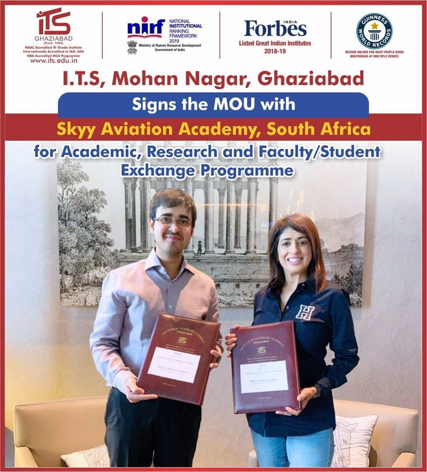 I.T.S - The Education Group signs MoU with Skyy Aviation Academy, South Africa for Cross-functional Academic Collaborations, Research and Faculty & Student Exchange Programs